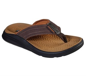 BROWN Skechers Relaxed Fit: Sargo - Reyon - FINAL SALE