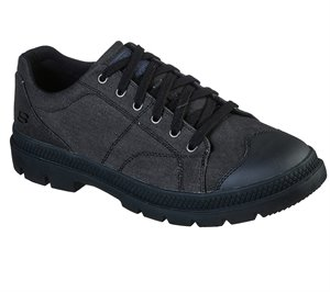 Black Skechers Relaxed Fit: Roadout - Pelson - FINAL SALE