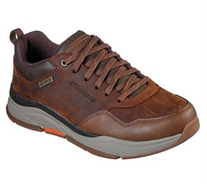 Brown Skechers Relaxed Fit: Benago - Hombre - FINAL SALE