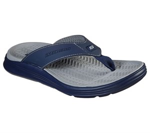 Gray Navy Skechers Relaxed Fit: Sargo - Sunview - FINAL SALE