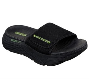Green Black Skechers Skechers Max Cushioning Slide - FINAL SALE