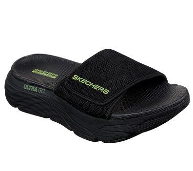 Green Black Skechers Skechers Max Cushioning Slide - FINAL SALE