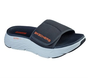 Orange Gray Skechers Skechers Max Cushioning Slide - FINAL SALE