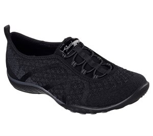 Black Skechers Relaxed Fit: Breathe Easy - Fortune-Knit