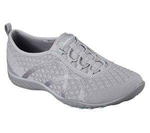 Light Gray Skechers Relaxed Fit: Breathe Easy - Fortune-Knit