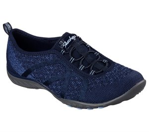 Navy Skechers Relaxed Fit: Breathe Easy - Fortune-Knit