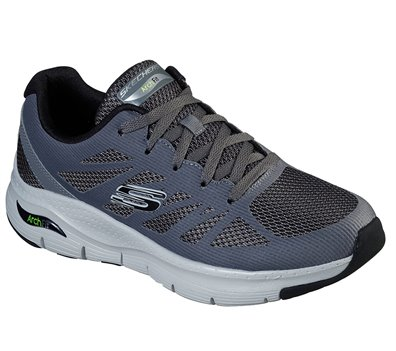 Black Gray Skechers Skechers Arch Fit - Charge Back EXTRA WIDE FIT - FINAL SALE