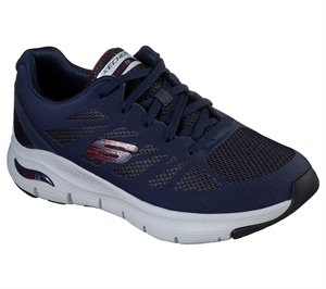 Red Navy Skechers Skechers Arch Fit - Charge Back EXTRA WIDE FIT - FINAL SALE