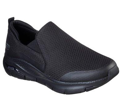 Black Skechers Skechers Arch Fit - Banlin EXTRA WIDE FIT - FINAL SALE