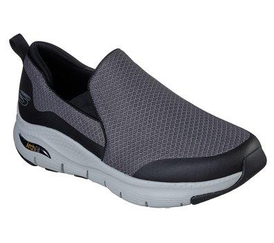 Black Gray Skechers Skechers Arch Fit - Banlin EXTRA WIDE FIT - FINAL SALE