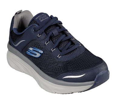 Gray Navy Skechers Relaxed Fit: D'Lux Walker EXTRA WIDE FIT - FINAL SALE
