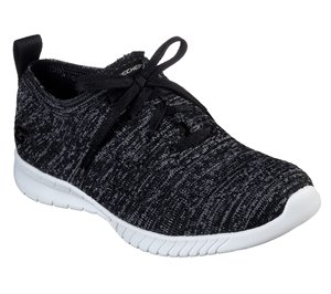 White Black Skechers Wave-Lite - On My Level