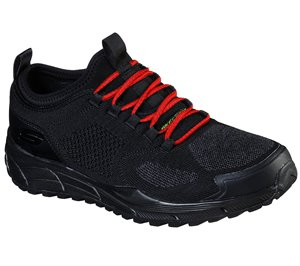 Red Black Skechers Relaxed Fit: Equalizer 4.0 Trail - Terrator - FINAL SALE