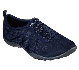 Navy Skechers Relaxed Fit: Breathe-Easy - Made Ya Look