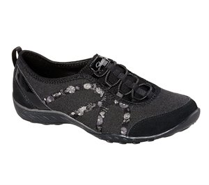 Black Skechers Relaxed Fit: Breathe-Easy - Garden Joy