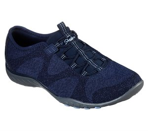 Navy Skechers Relaxed Fit: Breathe-Easy - Opportuknity - FINAL SALE