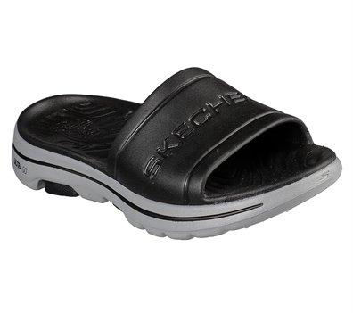 Gray Black Skechers Cali Gear: Skechers GOwalk 5 - Surf's Out - FINAL SALE