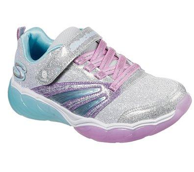 Purple Silver Skechers S Lights: Fusion Flash