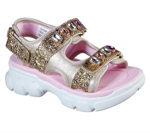 Gold Skechers S-Glitz