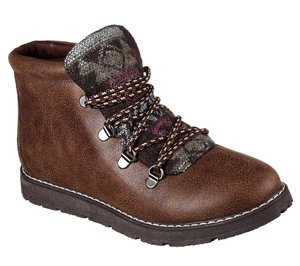 Brown Skechers BOBS Alpine - Keep Trekking