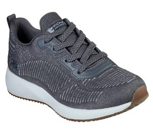 Silver Gray Skechers BOBS Sport Squad - Glam League