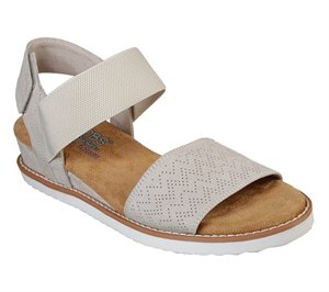 White Skechers BOBS Desert Kiss
