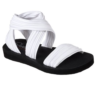 f5362a0c96ef Skechers Meditation - Still Sky in White - Skechers Womens Sandals ...