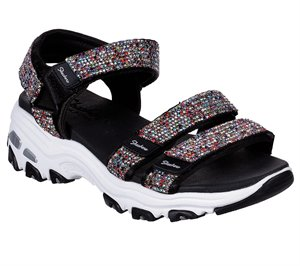 Multi Black Skechers D'Lites - Bright Light