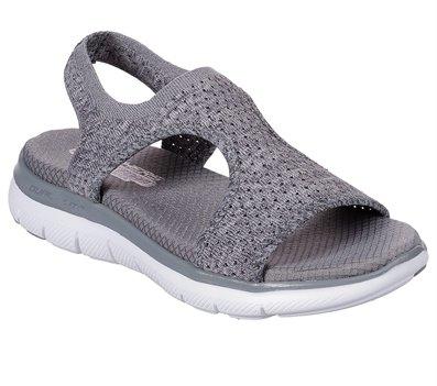 Gray Skechers Flex Appeal 2.0 - Deja Vu