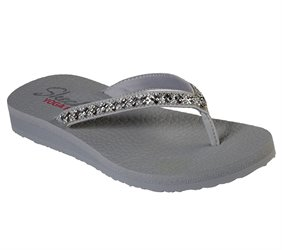 29b55b8d5848 Skechers Meditation - Perfect 10 in Gray - Skechers Womens Sandals on  Shoeline.com