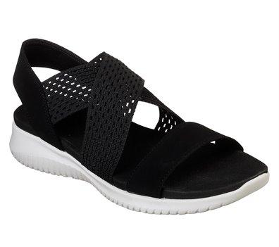 Black White Skechers Ultra Flex - Neon Star