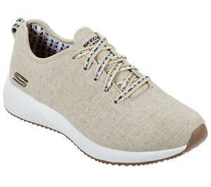 Natural Skechers BOBS Sport Squad - Desert Stay