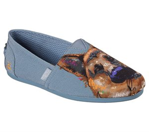 Gray Skechers EXCLUSIVE BOBS Plush - Paw-Fection Gussie