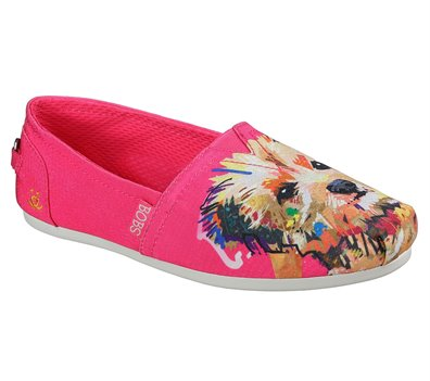Pink Skechers EXCLUSIVE BOBS Plush - Paw-Fection Winky