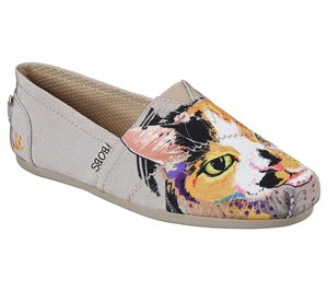 Natural Skechers EXCLUSIVE BOBS Plush - Paw-Fection Callie