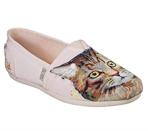Pink Skechers BOBS Plush - Cats Rule