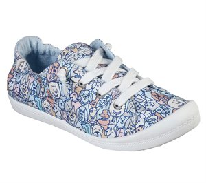Pink Blue Skechers BOBS Beach Bingo - Woof Pack