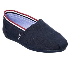 Red Navy Skechers BOBS Plush - Preps Cool