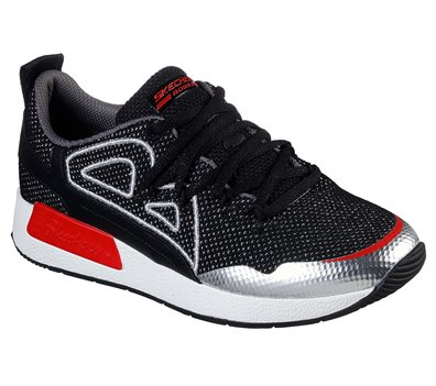 Silver Black Skechers BOBS Sport B-Real - FINAL SALE