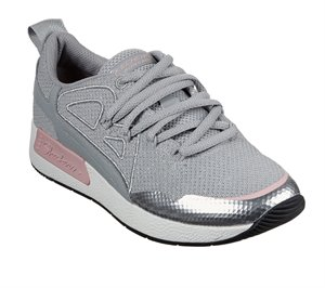 Pink Gray Skechers BOBS Sport B-Real