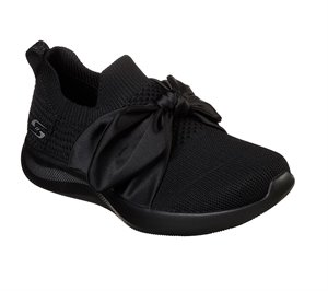 Black Skechers BOBS Sport Squad 2 - Bow Beauty