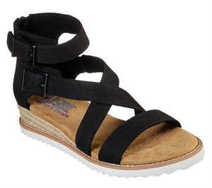 Black Skechers BOBS Desert Kiss - Mountain Princess