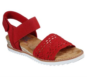Red Skechers BOBS Desert Kiss - Hilltop Whisper
