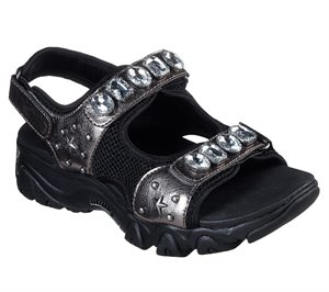 Gray Black Skechers D'Lites 2.0 - Charm Box