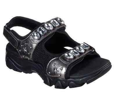 Gray Black Skechers D'Lites 2.0 - Charm Box