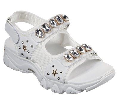 White Skechers D'Lites 2.0 - Charm Box