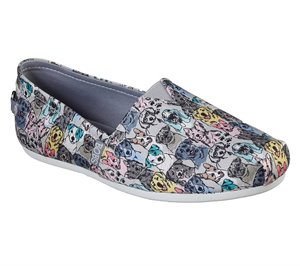 Multi Gray Skechers BOBS Plush - Pastel Pups