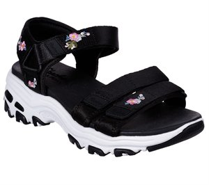 Multi Black Skechers D'Lites - Awesome Blossom