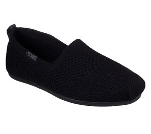 Black Skechers BOBS Plush - Autumn Leaf