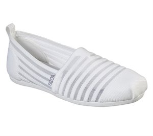 White Skechers BOBS Plush - Golden Hour